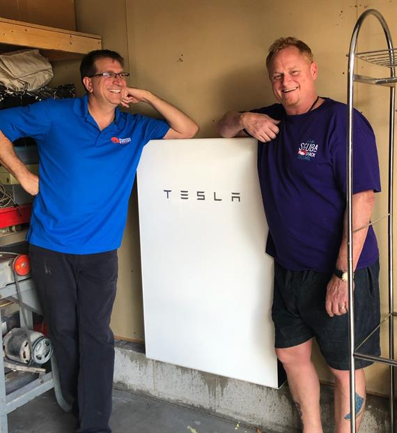 Tesla battery install new mexico