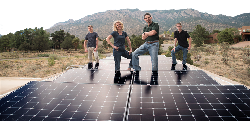 Positive Energy Solar installation in albuquerque, nm